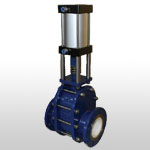 Toughened Structural Ceramic gate valve(pneumatic drive)