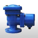 Double orifice air release valves