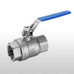 2pcs threaded full bore ball valve