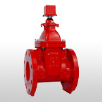 UL/FM NRS RESILIENT WEDGE GATE VALVE, Flanged ends
